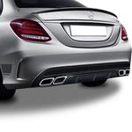 Mercedes C Serisi W205 Bagaj Üstü Piano Black Spoiler