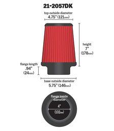 aem universal hava filtresi 21 2057dk 2
