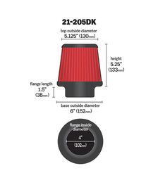 aem universal hava filtresi 21 205dk 2